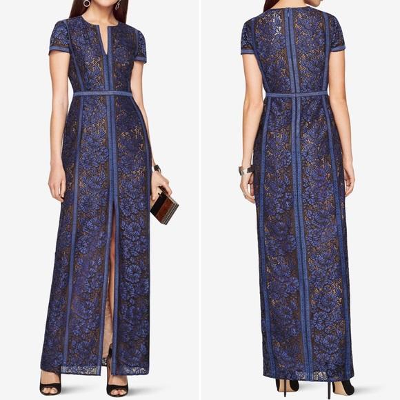 288a880fa82a BCBGMaxAzria Dresses | Bcbg Max Azria Cailean Floral Lace Gown In ...